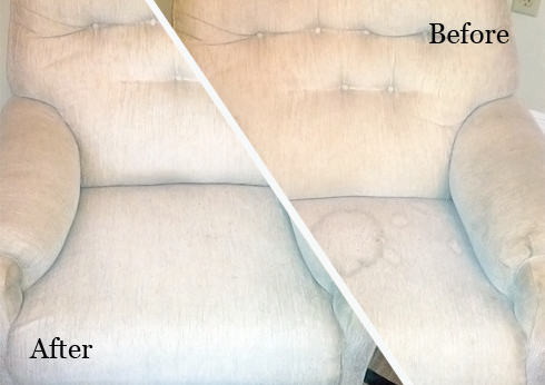 Upholstery Cleaning White Patch